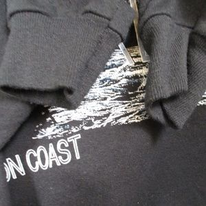 Vintage Sweaters - Vtg Mens XL Orca Whale Raglan Sleeve Sweatshirt